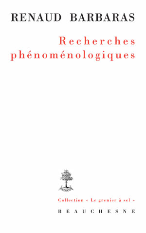 Recherches phénoménologiques Book Cover