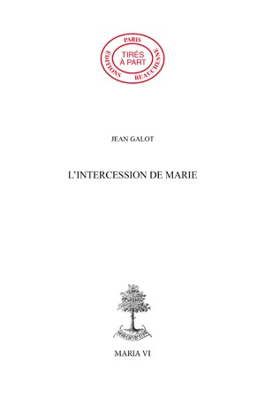 11. L'INTERCESSION DE MARIE