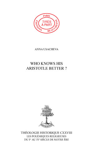 WHO KNOWS HIS ARISTOTLE BETTER ?