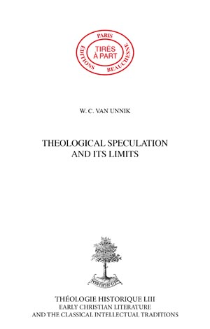 THEOLOGICAL SPECULATION AND ITS LIMITS