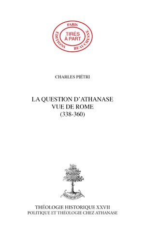 LA QUESTION D'ATHANASE VUE DE ROME (338-360)