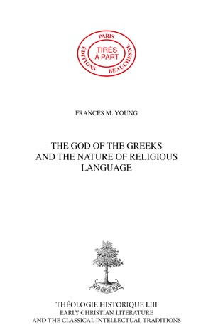 THE GOD OF THE GREEKS AND THE NATURE OF RELIGIOUS LANGUAGE