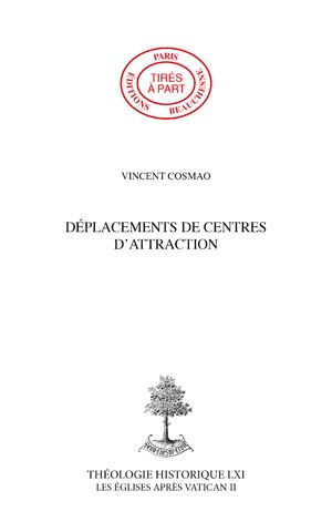DÉPLACEMENTS DE CENTRES D'ATTRACTION