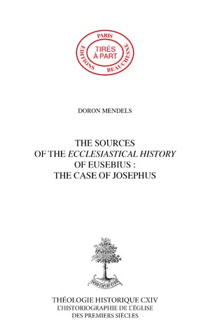 THE SOURCES OF THE ECCLESIASTICAL HISTORYOF EUSEBIUS: THE CASE OF JOSEPHUS