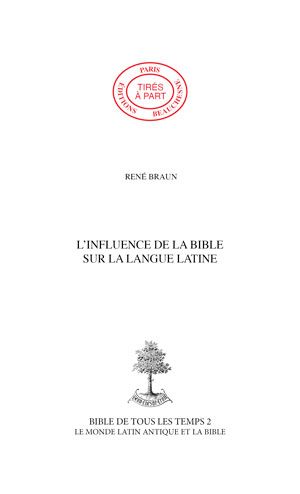 05. L\'INFLUENCE DE LA BIBLE SUR LA LANGUE LATINE
