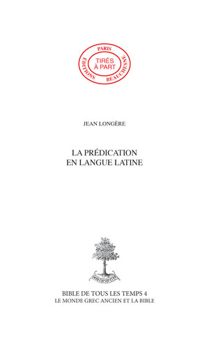 19. LA PRÉDICATION EN LANGUE LATINE