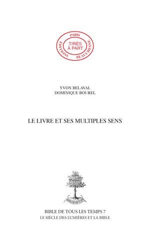 Le siècle des Lumières et la Bible - Yvon Belaval,Dominique Bourel