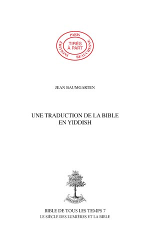 15. UNE TRADUCTION DE LA BIBLE EN YIDDISH