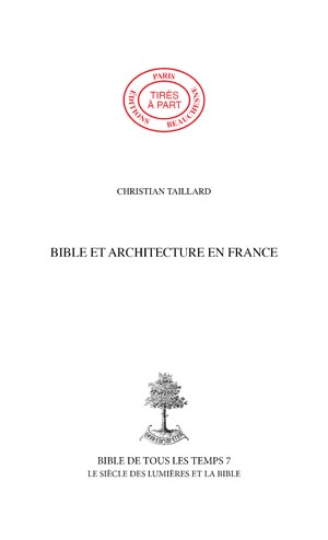 22. BIBLE ET ARCHITECTURE EN FRANCE