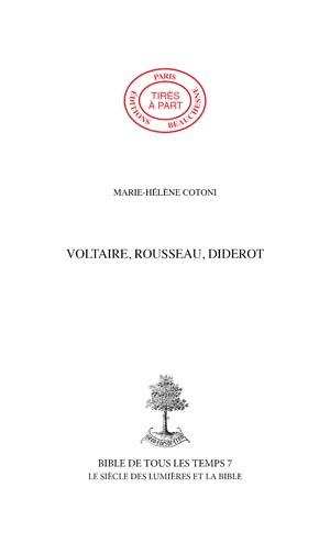 42. VOLTAIRE, ROUSSEAU, DIDEROT