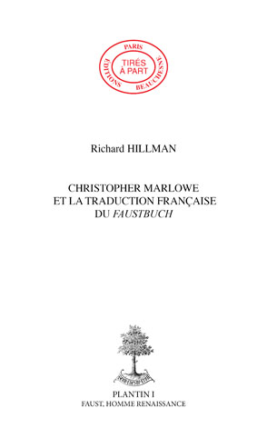 03. CHRISTOPHER MARLOWE ET LA TRADUCTION FRANCAISE DU FAUSTBUCH
