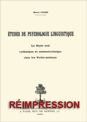 ÉTUDES DE PSYCHOLOGIE LINGUISTIQUE.